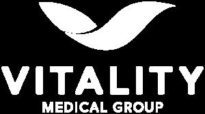 Vital Medical Group White Logo